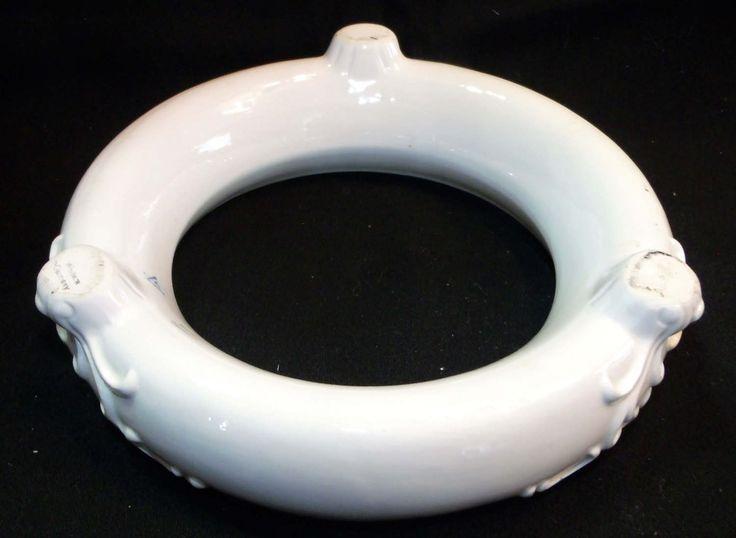 Goebel Flower Ring Pansy Vase ~ Sty-Bee Mark ~ White 3 Footed Flower Frog Ring ~ W. Germany ~ Flower Arranging Vase ~ Ikebana kabin by EclecticJewells on Etsy