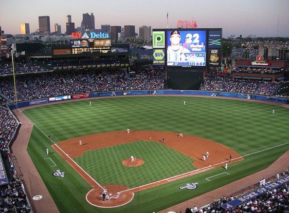 Turner Field-home of the Atlanta  Braves built in 1996-2nd largest MLB field-We had a great time at a game there, great seats. (originally built in 1996 as the center piece of the 1996 summer Olympics)