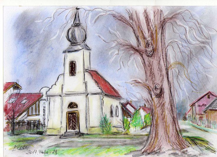 Kakasdi kápolna...pasztell