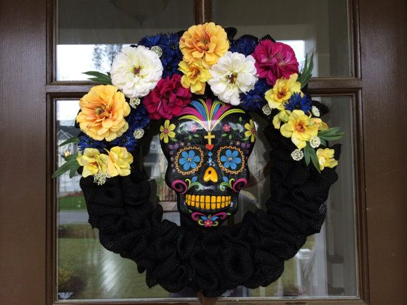 CUSTOMIZE your wreath! Day of the Dead Wreath! on Etsy, $75.00