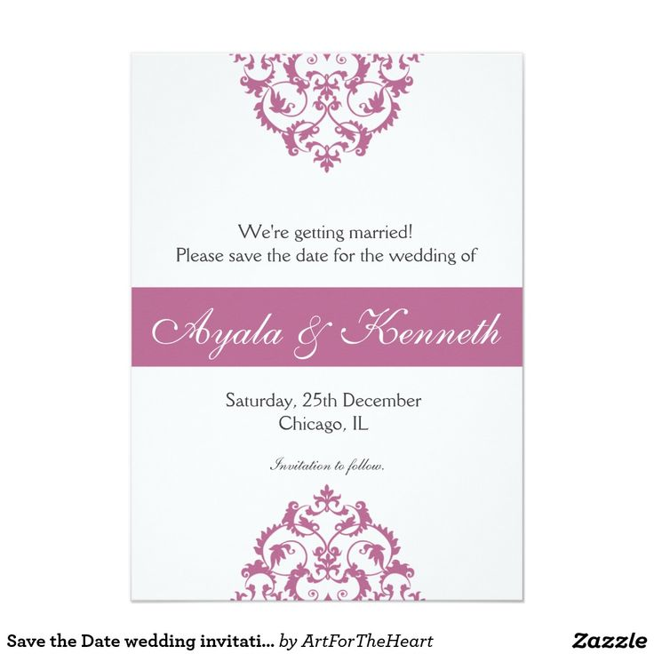 109 best save the date best cards invitations for weddings save the date wedding invitation card invite pink stopboris Images