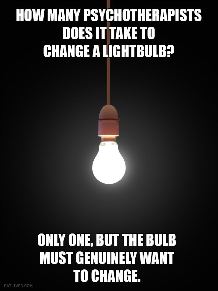 How many psychotherapists does it take to change a lightbulb?