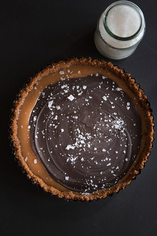 Milk and Honey: Salted Chocolate Caramel Tart