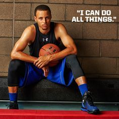 """""""I can do all things."""" - Stephen Curry #MotivationMonday #Basketball #UnderArmour"""