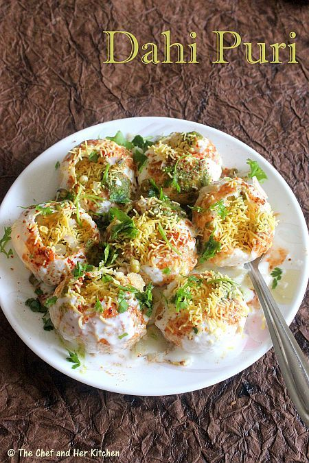 Dahi puri. Omg this stuff is so pod it's unbelievable! :D