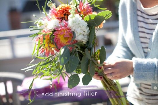 How to do your own wedding bouquet with Trader Joe's flowers. Seriously.