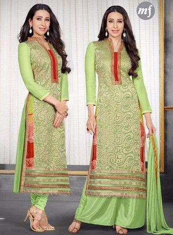 MF 52005 - Green Color Georgette Designer Suit
