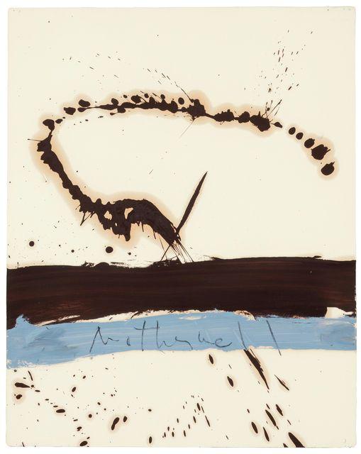Robert Motherwell, Beside the Sea, No.3 (1962), via Artsy.net