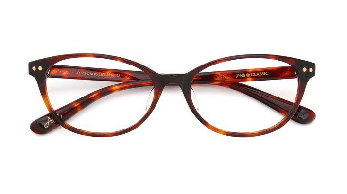 フェミニンで艶やかな印象を添える、トレンドのフォックス型メガネ【JINS CLASSIC -LILY-】シリーズ CCF-13-024 86 | 眼鏡(メガネ・めがね) - JINS