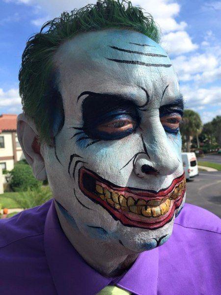 Face Paint | Orlando Face Painters | Colorful Day Events - Joker Face Paint Design