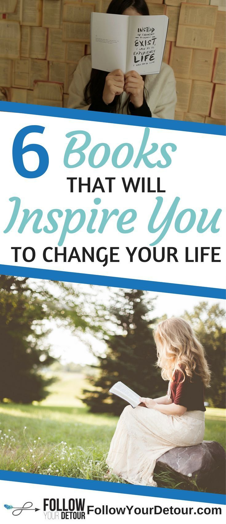 If you're looking for inspirational books to read, here are 6 that will motivate you to change your life. Add them to your reading list this year. They are especially great books to inspire you in your 20's and 30's.They are must read books! #book #bookworm #inspirational #mustread #readinglist #booklover #bookstagram
