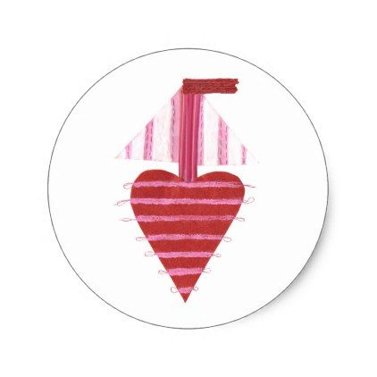 Loveheart Boat Stickers - valentines day gifts love couple diy personalize for her for him girlfriend boyfriend
