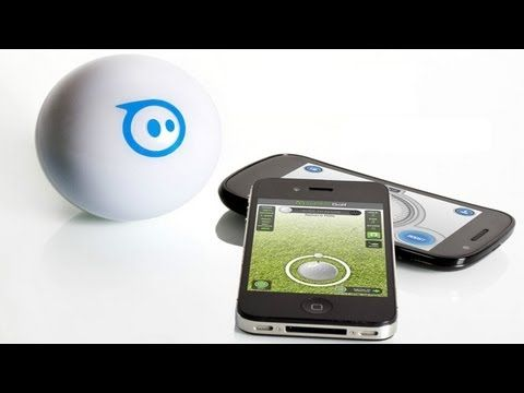 Sphero: iPhone Controlled Robotic Ball - CES 2012 ....Sphero is a robotic ball that you control from your iPhone. When you play games with it, you're playing in both the virtual and real world at the same time.