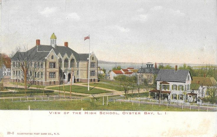 View of the High School, Oyster Bay, L.I., c. early 1900s