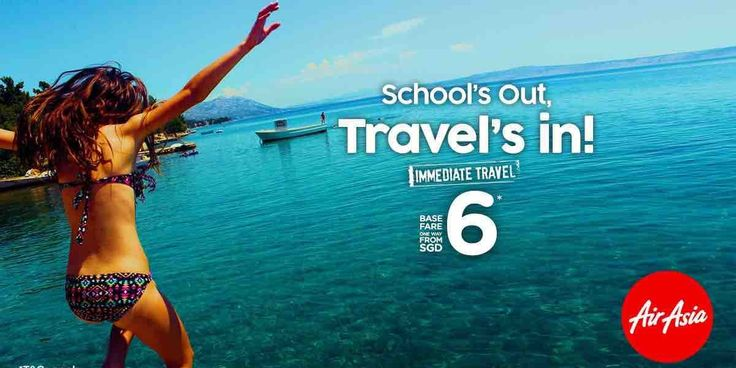 AirAsia Singapore School's Out Travel's In From SGD 6 Promotion ends 4 Jun 2017