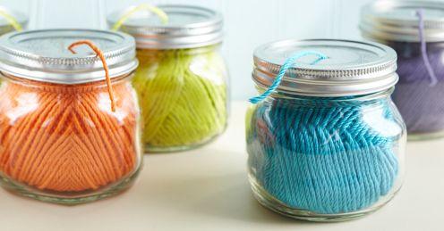 yarn in jars