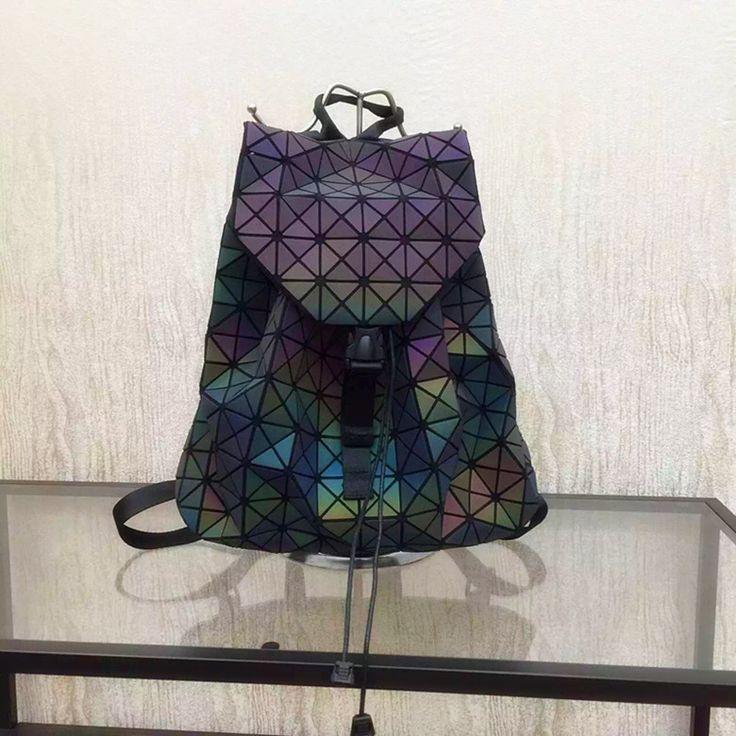 2016 New Bao bao women nano bag Diamond Lattice Tote geometry Quilted backpack  sac bags  women The chameleon series