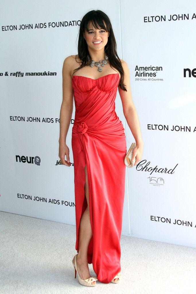 Michelle Rodriguez Strapless Dress - Michelle Rodriguez Looks - StyleBistro