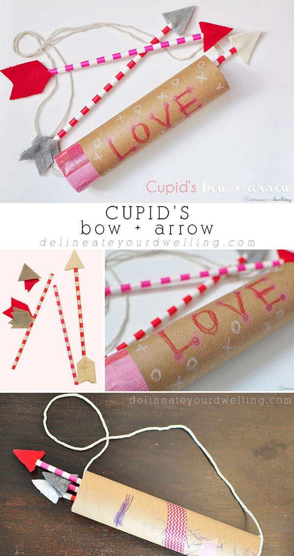 Cupid's Bow and Arrow craft, Delineateyourdwelling.com
