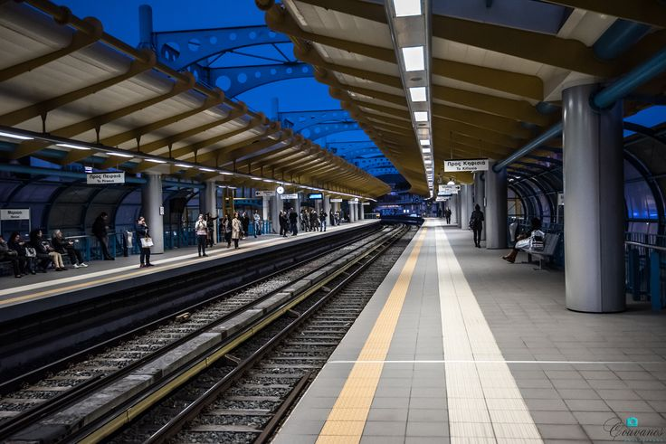 Train station in Marousi Attiki.