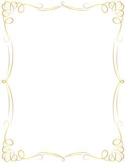 Awesome Golden Border Clipart Greeting Cards Pinterest Page