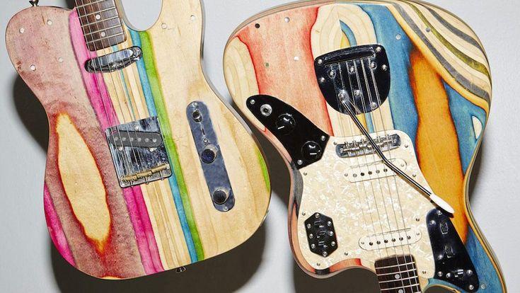 Killer Guitars Handmade From Broken Skateboards Look Awesome image