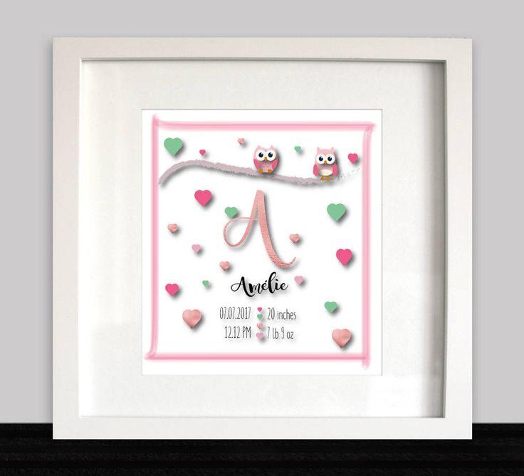 A new addition to my Etsy shop https://www.etsy.com/nl/listing/539859059/gepersonaliseerde-afdrukbare-art-baby  #nursery #baby #newborn #birthsign #babyboy #babygirl #etsy