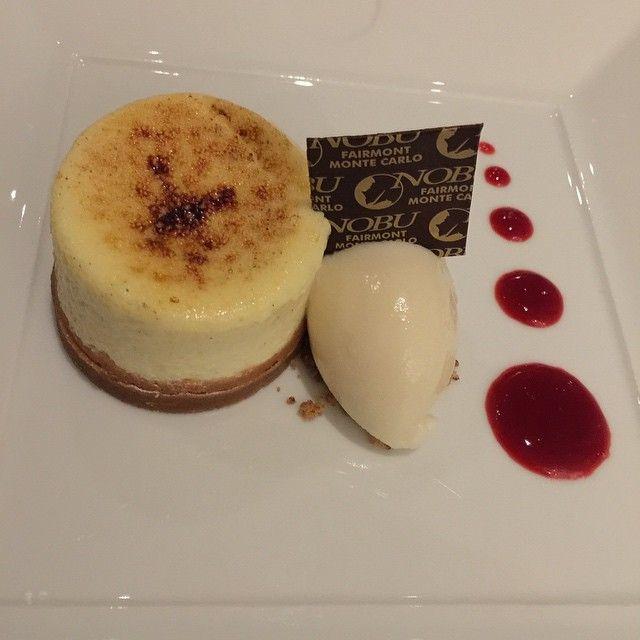#cheesecake #nobu #Fairmont #fairmontmontecarlo #diner #Monaco #restaurant #hotel #yummy