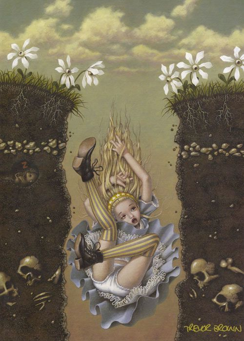 this is amazing, should have been an illustration in the book alice in wonderland and zombies.Trevor Brown - Alice