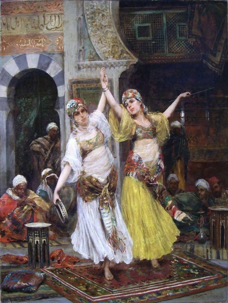 Fabio Fabbi (Italian Painter , 1861-1946)  -  Orientalist