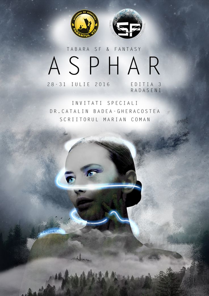 Poster design for Asphar, Sci-Fi creative writing camp. [2016 edition]