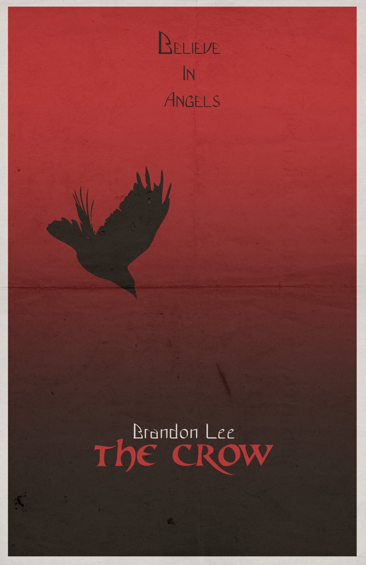 The Crow Quot Minimalist Quot Poster Movie Collection border=