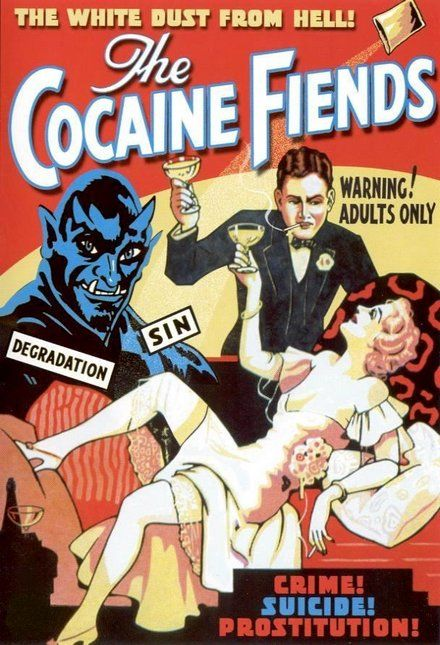 classic posters, free download, graphic design, movies, retro prints, theater, vintage, vintage posters, The Cocaine Fiends - Vintage Movie Poster