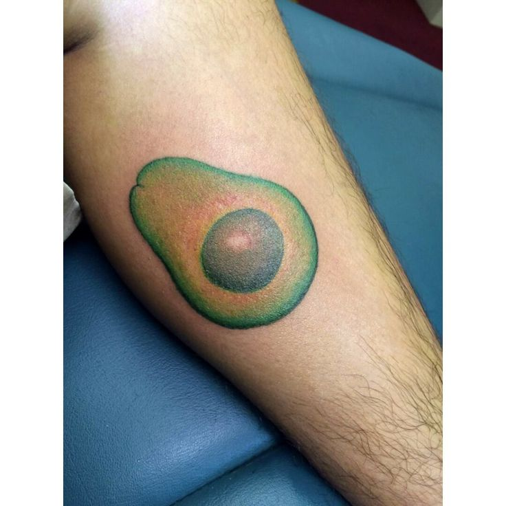#avocado #tattoo by Laura Carney in Farmville Kiss of Ink tattoo studio!