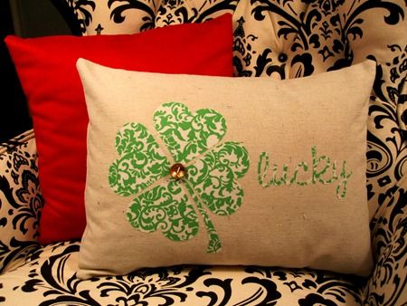St Patrick's Day Pillow