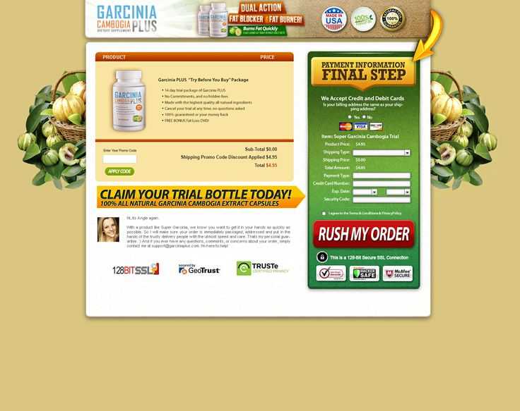 I was asked to create fresh lead capture page for Garcinia Cambogia PLUS®. Eye catching banners, modern sleek typography, a new designed product label positioning, and focused strategies to substantiate the product make this a successful campaign. Property of Garcinia Cambogia PLUS®
