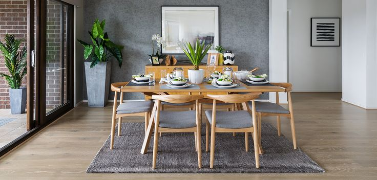 DINING: Blurring the lines between indoor and outdoor dining, introduce rich timber furniture and plant life to your Dining space. Visit our Resort Lookbook style here: http://www.metricon.com.au/get-inspired/lookbook/resort#sthash.jz35gEmI.dpuf