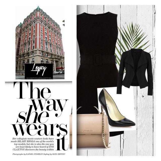 """""""Work - the way she wears it"""" by izabelamisztal on Polyvore featuring moda, NLXL, Warehouse, Brian Atwood, Givenchy, Donna Karan i WorkWear"""