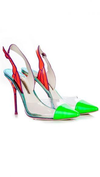 Sophia Webster butterfly pvc heels