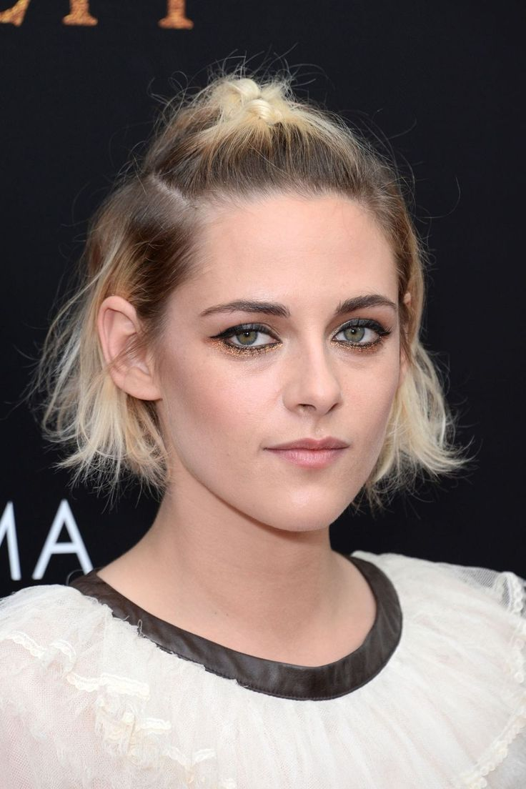 For the Cinema Society screening of [i]Cafe Society[/i] in New York, Stewart wore her hair in a tousled bob with the centre section in a plait.