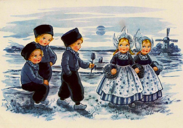 Delft Blue Children Postcard 6 | Flickr - Photo Sharing!