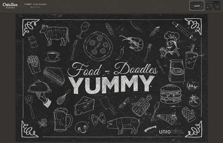 The kit includes 40 fully scalable food elements. #Freebies #CreativeMarket #1stWebDesigner #WebDesign