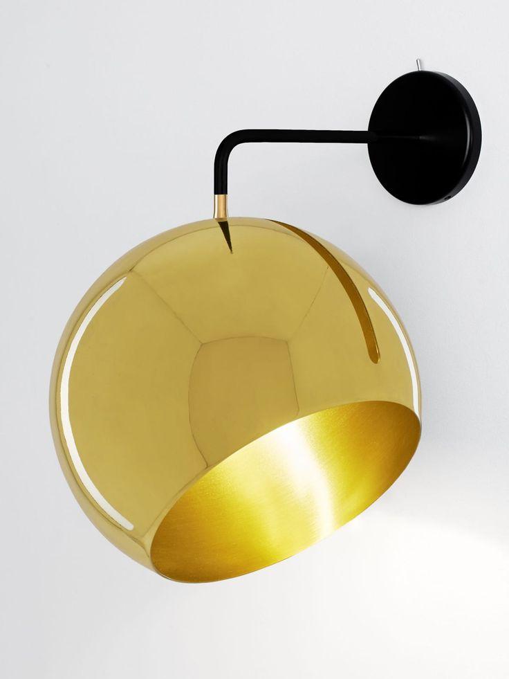 In Alle Richtungen Lsst Sich Der Leuchtschirm Wandleuchte Tilt Globe Wall Brass Schwenken Und Rume