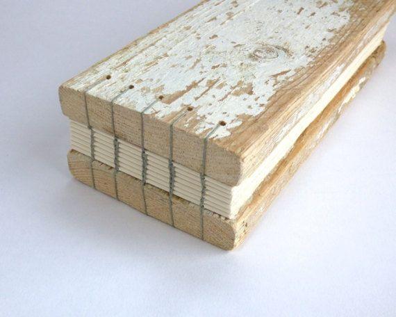 Driftwood book journal sketchbook or guestbook / by JoannaCaskie