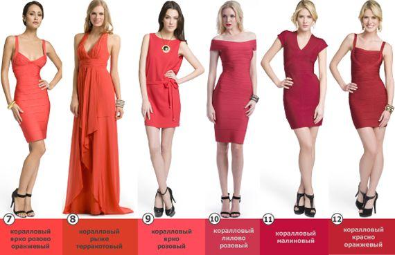 Платья кораллового цвета фото_1