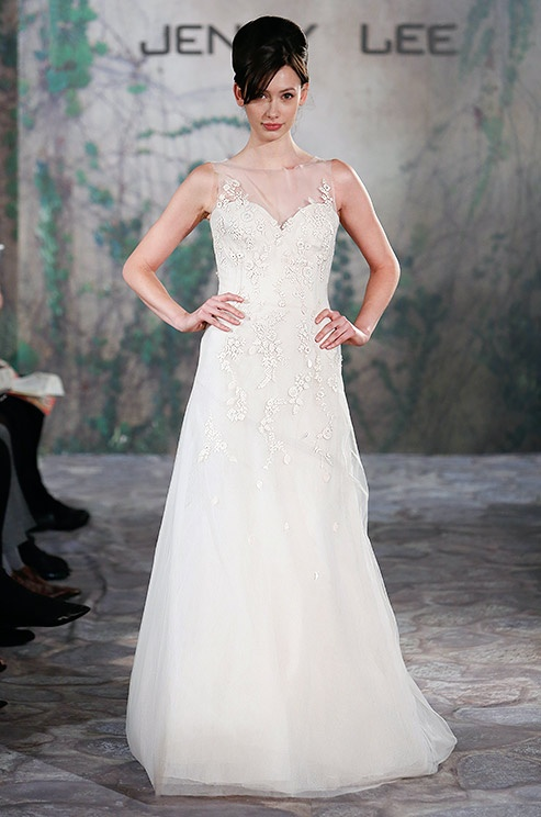 Illusion wedding dress from Jenny Lee, Fall 2013