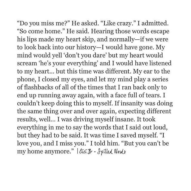 Holy fucking shit. Right in my damn feels. This relates to me so much right now. My heart and head in a battle that I know must end now.