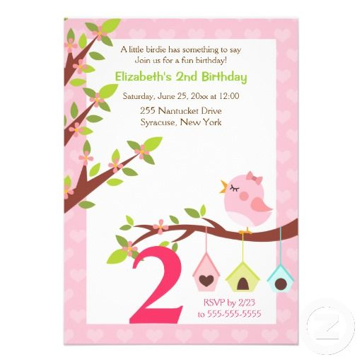 18 best 1st birthday invitations girl images on pinterest birthday a little birdie birthday invitation any age pink stopboris Image collections
