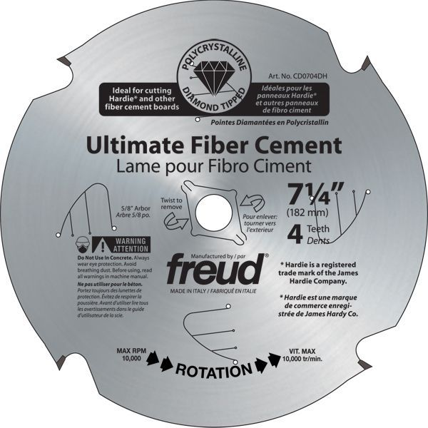 Pcd Ultimate Fiber Cement Blade 7 1 4 Inch Products Fiber Cement Board Cement Circular Saw Blades