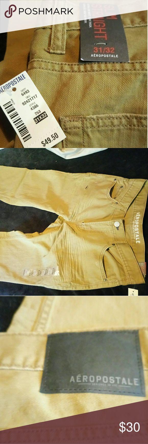 Mens kaki jeans New never worn mens kaki jeans Aeropostale  Jeans Slim Straight